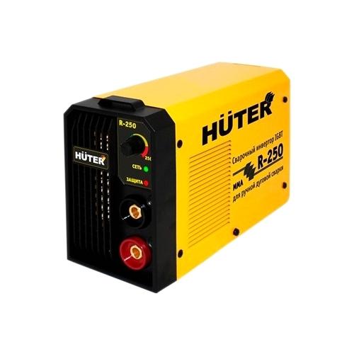 Сварочный аппарат Huter R-250Сварочные аппараты<br><br><br>Тип: сварочный инвертор<br>Сварочный ток (MMA): 10-250 А<br>Напряжение на входе: 160-260 В<br>Количество фаз питания: 1<br>Напряжение холостого хода: 80 В<br>Тип выходного тока: постоянный<br>Продолжительность включения при максимальном токе: 70 %<br>Диаметр электрода: 5 мм<br>Антиприлипание: есть<br>Горячий старт: есть
