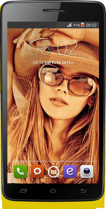 Мобильный телефон BQ BQS-4707 Montreal YellowМобильные телефоны<br><br>