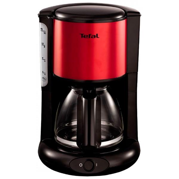 Кофеварка Tefal CM361E38Кофеварки и кофемашины<br><br><br>Тип : капельная кофеварка<br>Тип используемого кофе: Молотый<br>Мощность, Вт: 1000<br>Объем, л: 1.25<br>Материал корпуса  : Пластик<br>Съемный лоток для сбора капель  : Нет