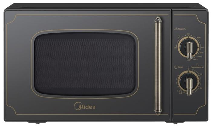 Микроволновая печь Midea MG820CJ7-B1Микроволновые печи<br><br><br>Объём, литров: 20<br>Тип: Микроволновая печь<br>Тип управления: Механическое<br>Переключатели: Поворотные