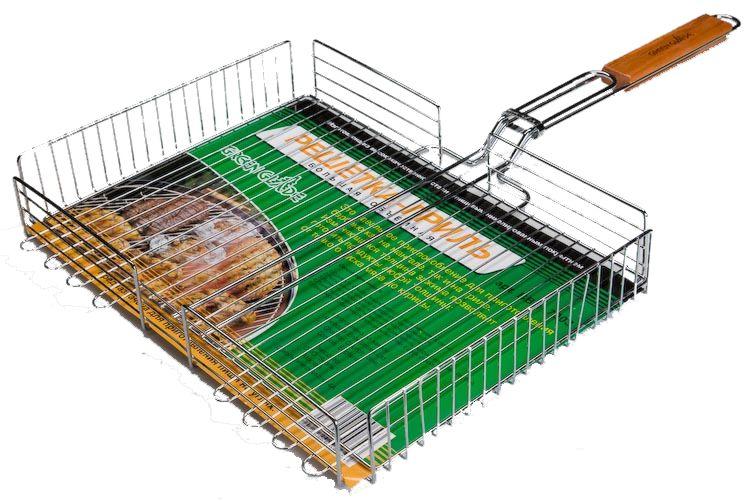 Решетка-гриль Green Glade 7003Мангалы, барбекю, гриль<br>Двойная объемная решетка-гриль Green Glade 7003 отлично подходит для использования во время отдыха на природе - запекания мяса или рыбы на углях.<br><br>Деревянная рукоятка не нагревается в процессе готовки, позволяет переворачивать решетку на мангале, защищая руки от ожогов.<br><br>Регулируемая толщина зажима решетки-гриль позволяет готовить на ней продукты любой толщины.<br><br>Тип: Решетка для гриля
