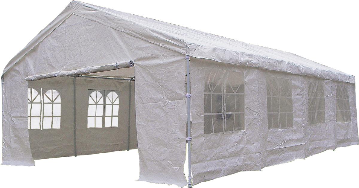 Садовый тент-шатер Green Glade 3018Садовые тенты и шатры<br>Шатер Green Glade 3018, позволит Вам и большой компании прекрасно провести время на свежем воздухе, находясь в полном комфорте. Он защитит Вас от солнца, а ПВХ покрытие защитит Вас от дождя. На приусадебном участке или в загородном доме не всегда есть возможность построить беседку; в таких случаях садовый тент придется как нельзя кстати. Прекрасный вариант для комфортного отдыха. Можно также использовать как летнее кафе.<br><br>Тип: Садовый тент-шатер<br>Покрытие: полиэстер 200 г. с ПВХ покрытием<br>Каркас: металлическая трубка (38х38х38 мм)<br>Размеры упаковки: 196х26х23см + 70х50х45см + 70х50х45см