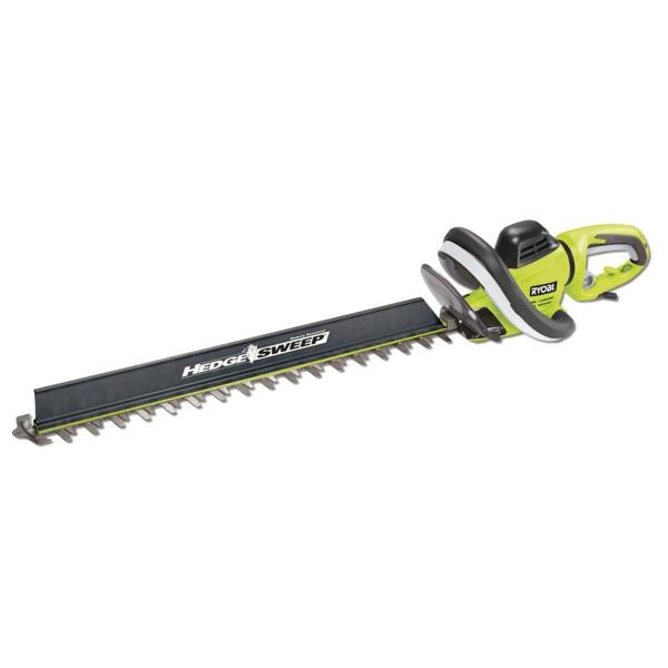Кусторез Ryobi RHT6560RL (3002123)Кусторезы<br>Кусторез Ryobi RHT6560RL 3002123 применяется на садовых участках и в парковых зонах. Облегчает подрезку фруктовых деревьев, различных кустарников, позволяет придать форму живой изгороди. Насадка HedgeSweep™ используется для уборки срезанных веток. Инструмент комплектуется двухсторонним ножом с долговечными лезвиями. Максимальный диаметр срезаемых веток - 30 мм.<br> <br>- Две рукоятки - надежное удержание кустореза;<br>- Мощный двигатель 650 Вт;<br>- Поворотная задняя рукоятка;<br>- Алмазная заточка лезвия;<br>- Обрезиненное покрытие на основной рукоятке - комфорт при работе.<br><br>Тип: кусторез<br>Тип двигателя: Электрический<br>Источник питания: сеть<br>Мощность двигателя, Вт: 650<br>Длина шины дюйм/см: 50 см