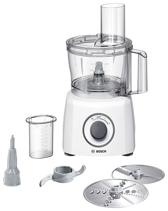 Кухонный комбайн Bosch MCM 3110 WКухонные комбайны<br><br><br>Тип: Кухонный комбайн<br>Мощность, Вт: 800<br>Емкость чаши, л: 2.3<br>Соковыжималка: Нет<br>Место для хранения насадок: Есть