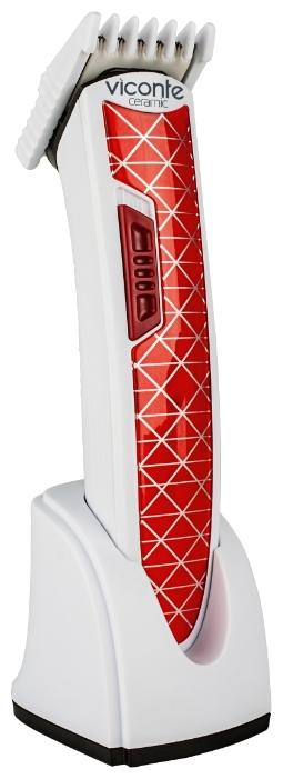 Машинка для стрижки Viconte VC-465 RedМашинки для стрижки и триммеры<br><br><br>Тип : Универсальная<br>Время работы, мин: 35<br>Длина стрижки, мм: 6 - 17