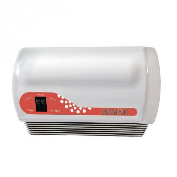 Водонагреватель Atmor In-Line 12Водонагреватели<br><br><br>Тип водонагревателя: проточный<br>Способ нагрева: электрический<br>Производительность, л/мин: 6<br>Максимальная температура нагрева воды (°С): +65<br>Номинальная мощность(кВт): 12