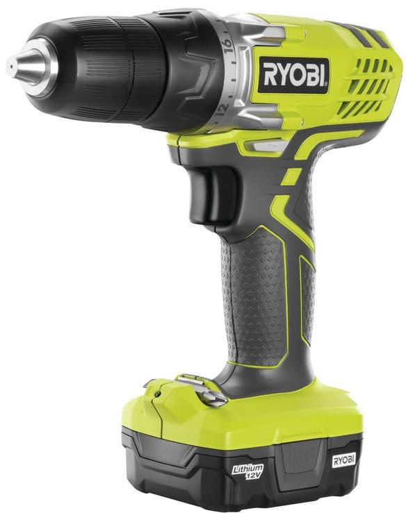 Дрель Ryobi R12SD-L13G (3002322)Дрели, шуруповерты, гайковерты<br>Аккумуляторная дрель Ryobi R12SD-L13G 3002322 оснащена быстрозажимным патроном, что предусматривает быструю смену оснастки. Функция реверса упрощает извлечение заклинившего сверла и выворачивание крепежа. С помощью муфты регулировки крутящего момента можно выставить необходимое значение момента затяжки под работу с конкретным материалом. Сверхтонкая рукоятка с эластичным покрытием обеспечивает комфортную работу пользователя. <br><br>Тип: дрель<br>Тип патрона: быстрозажимной<br>Количество скоростей работы: 1<br>Питание: от аккумулятора<br>Тип аккумулятора: Li-Ion