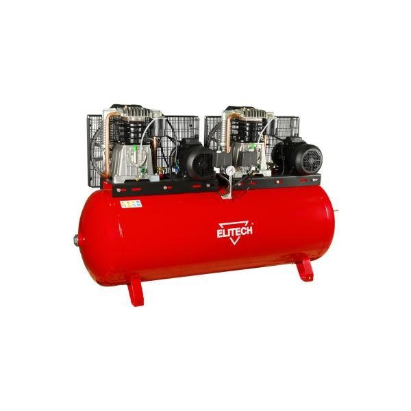 Компрессор Elitech КР 500/АВ858ТБ/11ТВоздушные компрессоры<br>Elitech КР 500/АВ858ТБ/11Т - масляный компрессор, предназначен для работы с пневмоинструментами, для использования в качестве насоса и в тех местах, где необходим сжатый воздух. Оснащение: чугунный поршневый блок Fiac, визуальный контроль давления в ресивере и на выход &amp;#40;манометры&amp;#41;, регулировка давления на выход, визуальный контроль масла в компрессоре &amp;#40;смотровое окно&amp;#41;, электромеханический блок управления давлением в ресивере, предохранительный механический клапан высокого давления, дренажный клапан для слива конденсата, быстросъемный разъ...<br><br>Допустимое напряжение, В: 400