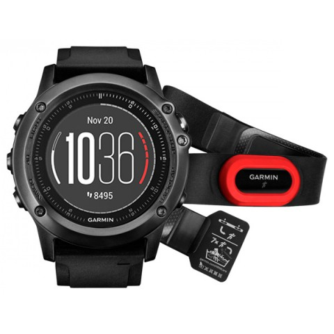 Умные часы Garmin Fenix 3 Sapphire Back HR HRM [010-01338-74]