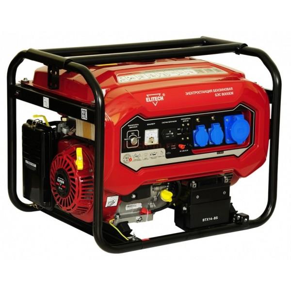 Электрогенератор Elitech БЭС 8000 ЕМ