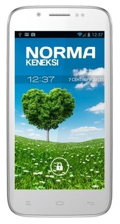 Мобильный телефон Keneksi Norma WhiteМобильные телефоны<br><br><br>Тип: Смартфон<br>Стандарт: GSM 900/1800/1900, 3G<br>Тип трубки: классический<br>Поддержка двух SIM-карт: есть<br>SMS: Есть<br>MMS: Есть<br>Операционная система: Android 4.2<br>Тип звонка: Полифонический<br>Встроенная память: 4 Гб<br>Разъём для карт памяти: microSD