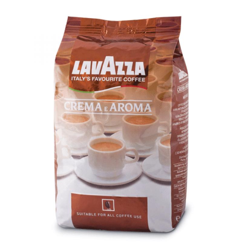 Кофе в зернах Lavazza Crema e Aroma зерно 1000грКофе, какао<br>Lavazza Crema e Aroma — офисный рекордсмен.<br>Почему во всех офисах вкусный кофе пользуется огромной популярностью? Все дело в его вкусе и аромате — насыщенном, терпком, таком манящем! Вот почему зерновой кофе Lavazza Crema e Aroma стоит в первых рядах среди любимых блендов офисных работников. Кроме того, этот кофе дарит потрясающий заряд бодрости, которого хватает на целый рабочий день!<br>Африканская робуста, южноамериканская арабика, традиционная средняя обжарка зерен, смешенных в пропорциях 1 к 4: здесь имеются все важнейшие составляющие качественного кофе.<br>Идеально...<br><br>Тип: кофе в зернах<br>Обжарка кофе: средняя<br>Кофеин: С кофеином<br>Состав: 80% Арабика/ 20% Робуста<br>Дополнительно: 80% Арабика, 20% Робуста