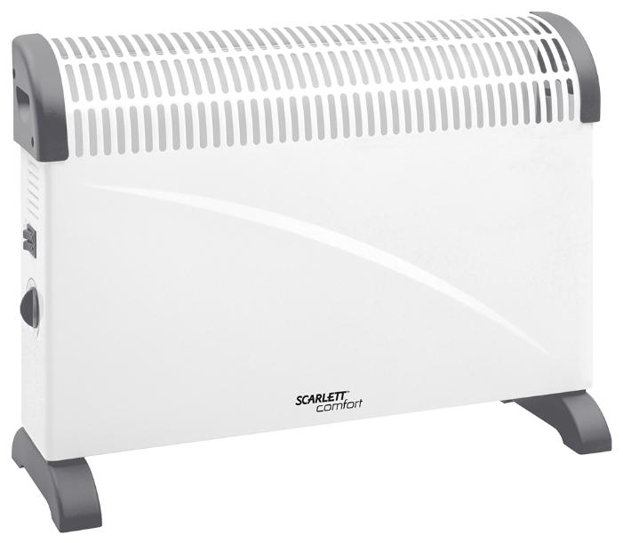 Конвектор Scarlett SCA H VER1 2000Обогреватели<br><br><br>Тип: конвектор<br>Максимальная мощность обогрева: 2000 Вт<br>Площадь обогрева, кв.м: 24<br>Отключение при перегреве: есть<br>Управление: механическое<br>Регулировка температуры: есть<br>Термостат: есть<br>Напольная установка: есть<br>Ручка для перемещения: есть<br>Напряжение: 220/230 В
