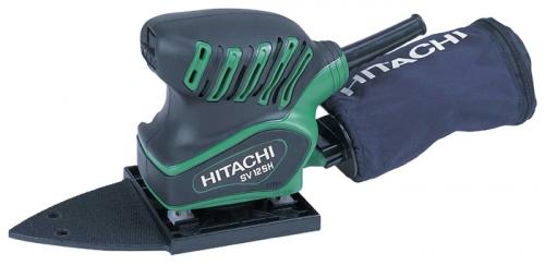 Шлифовальная машина Hitachi SV12SHШлифовальные и заточные машины<br>Плоскошлифовальная вибрационная машина Hitachi SV12SH предназначена для шлифовки и выравнивания поверхностей в труднодоступных местах. Прорезиненная ручка снижает уровень вибрации, делает хват инструмента надежным и предотвращает скольжение его в руках. Благодаря пылесборному мешку можно поддерживать рабочее место в чистоте.<br><br>Размер хода платформы, мм: 1.5<br>Длина листа/ленты, мм: 190<br>Ширина листа/ленты, мм: 110