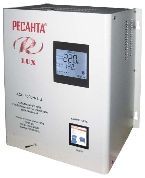 Стабилизатор напряжения Ресанта LUX АСН-8000Н/1-ЦСетевые фильтры и стабилизаторы<br><br><br>Тип: стабилизатор напряжения