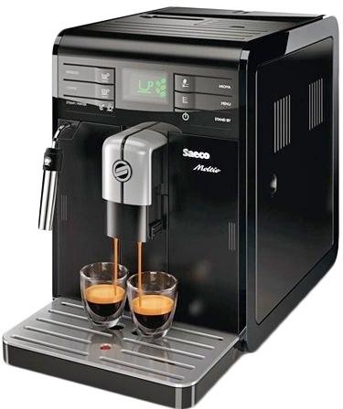 Кофемашина Saeco HD8766/09 Moltio BlackКофеварки и кофемашины<br>Хороший день начинается с Saeco HD8766/09 Moltio Black.<br>Хороший день начинается с превосходного настроения, которого так легко достичь всего одной чашечкой вкусного горячего кофе! Так что если у вас дома или в офисе еще не поселилась кофемашина Saeco HD8766/09 Moltio Black, срочно исправляйте это упущение!<br>Встроенная кофемолка, автоматическое приготовление эспрессо и капучино, контроль крепости напитка, предварительное смачивание — вот лишь некоторые из многочисленных характеристик этой замечательной модели. Красивая и стильная кофемашина украсит любую кухню ...<br><br>Тип : зерновая кофемашина<br>Тип используемого кофе: Зерновой\Молотый<br>Мощность, Вт: 1400<br>Объем, л: 1.9<br>Давление помпы, бар  : 15<br>Материал корпуса  : Пластик<br>Встроенная кофемолка: Есть<br>Емкость контейнера для зерен, г  : 300<br>Одновременное приготовление двух чашек  : Есть<br>Контейнер для отходов  : Есть