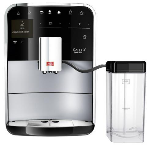 Кофемашина Melitta Caffeo Barista T F 730-201Кофеварки и кофемашины<br>Настоящий Barista знает секрет приготовления идеального кофе - от Ristretto до Flat White. Он знает, в каком порядке нужно добавлять ингредиенты в чашку в соответствии с оригинальной рецептурой, а также запоминает Ваши кофейные рецепты.<br><br>Melitta F 730 принесет в Ваш дом настоящее кофейное разнообразие. 18 итальянских кофейных рецептов, изысканный дизайн и простота использования - истинное кофейное наслаждение.<br> <br>- Рецепты<br>Как настоящий гурман Вы наверняка любите себя побаловать различными вариациями кофе: классическим эспрессо, изысканным Flat White или горячим Americano....<br><br>Тип используемого кофе: Зерновой\Молотый<br>Мощность, Вт: 1450<br>Объем, л: 1.8<br>Давление помпы, бар  : 15<br>Материал корпуса  : Пластик<br>Встроенная кофемолка: Есть<br>Емкость контейнера для зерен, г  : 270<br>Одновременное приготовление двух чашек  : Есть<br>Подогрев чашек  : Есть<br>Контейнер для отходов  : Есть