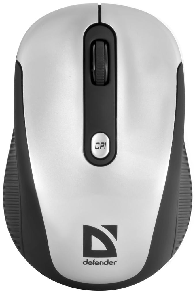 Компьютерная мышь Defender Optimum MS-125 Nano Silver-Black USB