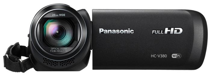Видеокамера Panasonic HC-V380EE-KВидеокамеры<br><br><br>Тип: Flash<br>Поддержка видео высокого разрешения (Full HD): Есть<br>Максимальное разрешение видеосъемки: 1920x1080<br>Видоискатель: Отсутствует<br>Фоторежим: Есть<br>Число мегапикселов при фотосъемке Мпикс: 2.2<br>Широкоформатный режим фото: Есть<br>Тип матрицы: MOS<br>Количество матриц: 1<br>Разрешение матриц Мпикс: 2.51 Мпикс
