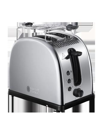 Тостер Russell Hobbs 21290-56Тостеры и минипечи<br><br><br>Тип: тостер<br>Мощность, Вт.: 1300<br>Тип управления: Механическое<br>Количество отделений: 2<br>Количество тостов: 2