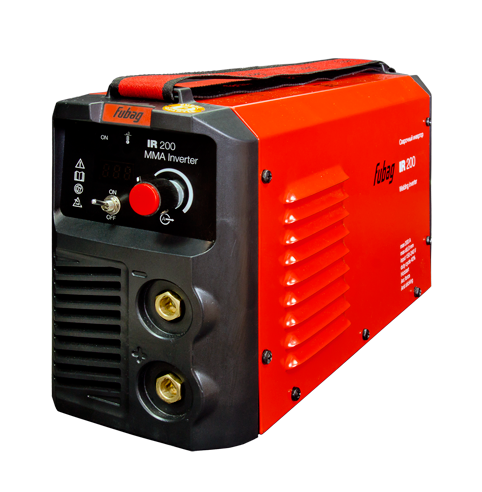 Сварочный аппарат FUBAG IR 200Сварочные аппараты<br>- Компактный и сильный <br>Самый популярный сварочный инвертор в серии IR, способен варить электродами диаметром до 5 мм. При этом он сохранил все преимущества других аппаратов этой серии: малый вес, компактность, отличное качество и лёгкость работы. <br><br>- Панель управления аппаратом <br>Цифровой дисплей отображает значение сварочного тока. Пользователь имеет возможность легкого контроля за параметром и точной настройки в зависимости от решаемых задач. <br><br>- Регулируемый ремень для переноски <br>Мягкий нейлоновый ремень с регулятором длины даёт возможность...<br><br>Тип: сварочный инвертор<br>Сварочный ток (MMA): 5-180 А<br>Напряжение на входе: 150-240 В<br>Количество фаз питания: 1<br>Напряжение холостого хода: 65 В<br>Тип выходного тока: постоянный<br>Мощность, кВт: 8.80<br>Продолжительность включения при максимальном токе: 40 %<br>Диаметр электрода: 1.60-5 мм<br>Класс изоляции: H