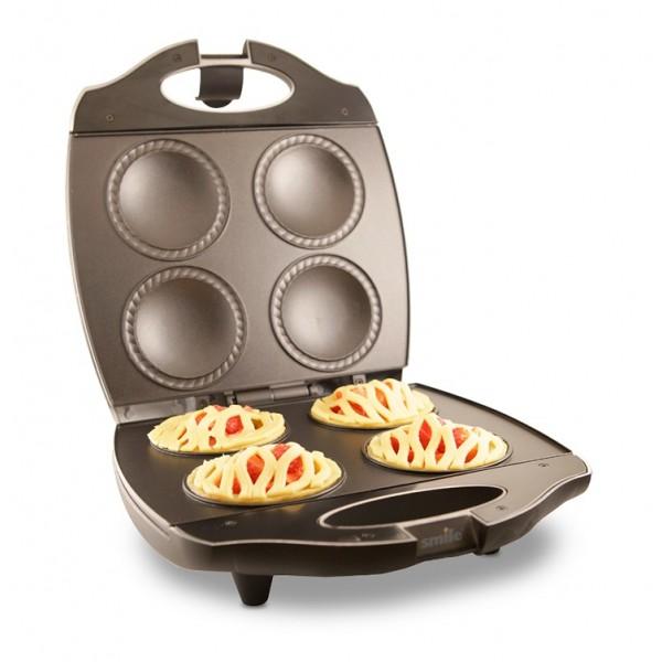 Ростер Smile RS 3630Домашние помощники<br><br><br>Тип: ростер<br>Объем: 4 емкости для выпекания пирогов<br>Цвет: черный