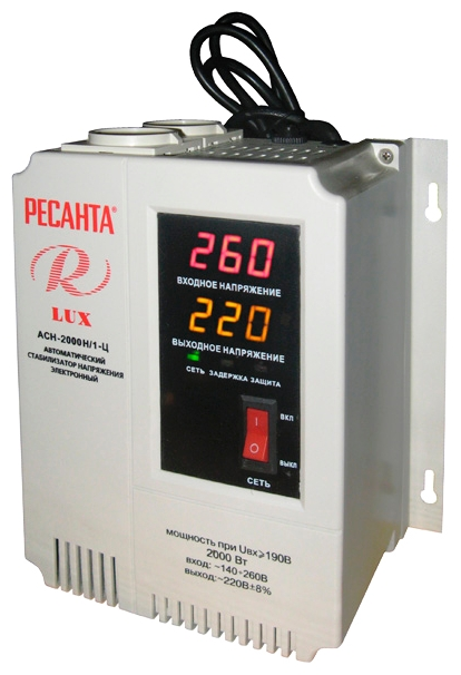 Стабилизатор напряжения Ресанта LUX АСН-2000Н/1-ЦСтабилизаторы напряжения<br><br>