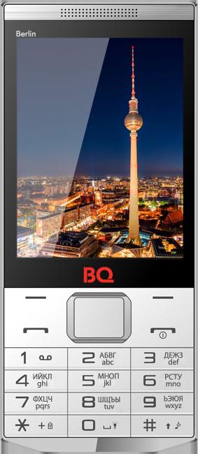 Мобильный телефон BQ BQM-3200 Berlin WhiteМобильные телефоны<br><br><br>Тип: Мобильный телефон<br>Стандарт: GSM 900/1800/1900<br>Тип трубки: классический<br>Поддержка двух SIM-карт: есть<br>Фотокамера: 0.30 млн пикс.<br>Разъем для наушников: 3.5 мм