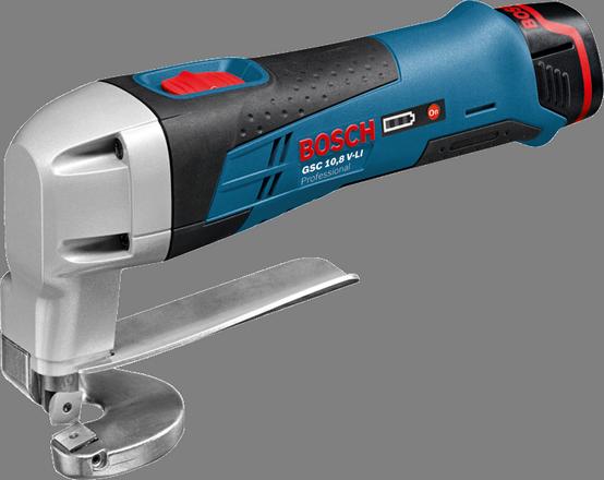 Ножницы по металлу Bosch GSC 10,8 V-LI [0601926105]Ножницы электрические<br>- Уникальная литий-ионная технология класса Premium от Bosch для увеличения срока службы и исключительно долгой работы на одной зарядке аккумулятора<br>- Bosch Electronic Cell Protection &amp;#40;ECP&amp;#41;: система защиты аккумулятора от перегрузки, перегрева и глубокого разряда<br>- Исключительная прочность: благодаря эластичному корпусу Durashield инструмент сохраняет полную работоспособность даже после падения на бетон с высоты 1 м<br>- Удобный индикатор заряда аккумулятора с 3 светодиодами<br>- Производительность резания до 60 м в стали &amp;#40;400 Н/нм?: 0,75 мм&amp;#41; на одном заряде аккумулятора...<br><br>Тип: Ножницы по металлу