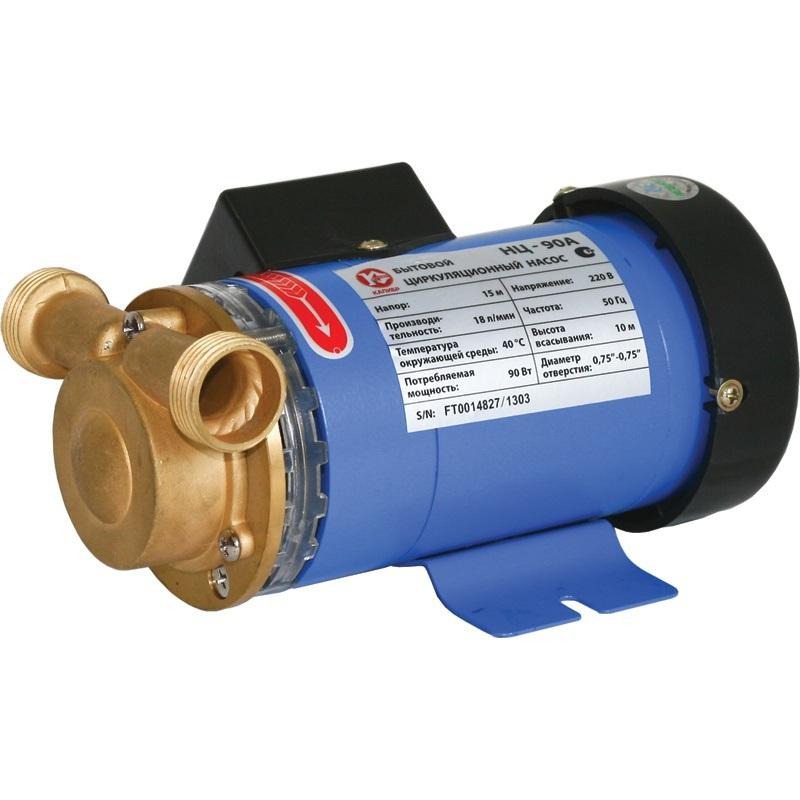 Насос Калибр НЦ - 90/АНасосы<br>Бытовой циркуляционный насос Калибр НЦ-90А предназначен для работы в системах отопления со стабильным или мало изменяющимся расходом.<br>- реле потока<br><br>Глубина погружения: 10 м<br>Максимальный напор: 15 м<br>Потребляемая мощность: 90 Вт<br>Качество воды: чистая<br>Установка насоса: горизонтальная/вертикальная