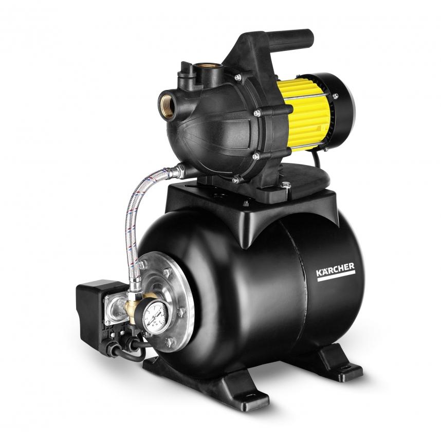 Насос Karcher BP 3 HomeНасосы<br>- Интегрированный гидроаккумулятор, 19 л<br>- Интегрированный манометр<br>- Приспособления для прикрепления<br>- Термостат<br>- Детали из нержавеющей стали<br>- Обратный клапан в комплекте<br><br>Потребляемая мощность: 800 Вт