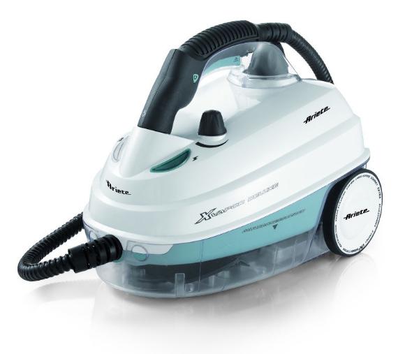 Пароочиститель Ariete 4146Пароочистители<br>Пароочиститель Ariete 4146 – универсальный прибор, который поможет вам навести идеальную чистоту в вашем доме, тщательно очистить каждый уголок. Уборка при помощи струи пара помогает легко избавиться от загрязнений любой сложности, а главное – вы можете не применять химические моющие средства. Мощность 1500 Вт и давление 5 бар гарантируют, что уборка будет быстрой и качественной. Благодаря компактному дизайну вам будет комфортно перемещаться с прибором из комнаты в комнату. Он может использоваться для уборки пола, мягкой мебели, мытья окон, кухонных...<br><br>Мощность нагревателя (Вт): 1500<br>Макс. давление пара (бар)  : 5<br>Время нагрева   : 8 минут