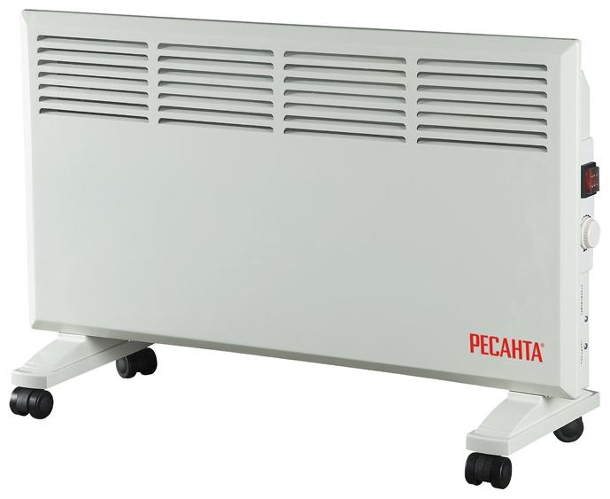 Конвектор Ресанта ОК-1600Обогреватели<br><br><br>Тип: конвектор<br>Максимальная мощность обогрева: 1600 Вт<br>Отключение при перегреве: есть<br>Влагозащитный корпус: есть<br>Управление: механическое<br>Регулировка температуры: есть<br>Термостат: есть<br>Выключатель со световым индикатором: есть<br>Напольная установка: есть<br>Колеса для перемещения: есть