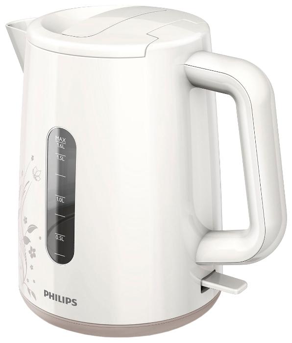 Чайник Philips HD 9310/14Чайники и термопоты<br><br><br>Тип   : Электрочайник<br>Объем, л  : 1.6<br>Мощность, Вт  : 2400<br>Тип нагревательного элемента: Закрытая спираль<br>Покрытие нагревательного элемента  : Нержавеющая сталь<br>Материал корпуса  : пластик<br>Индикатор уровня воды  : Есть<br>Блокировка включения без воды  : Есть<br>Отсек для хранения шнура: Есть<br>Длина сетевого шнура, м  : 0.75