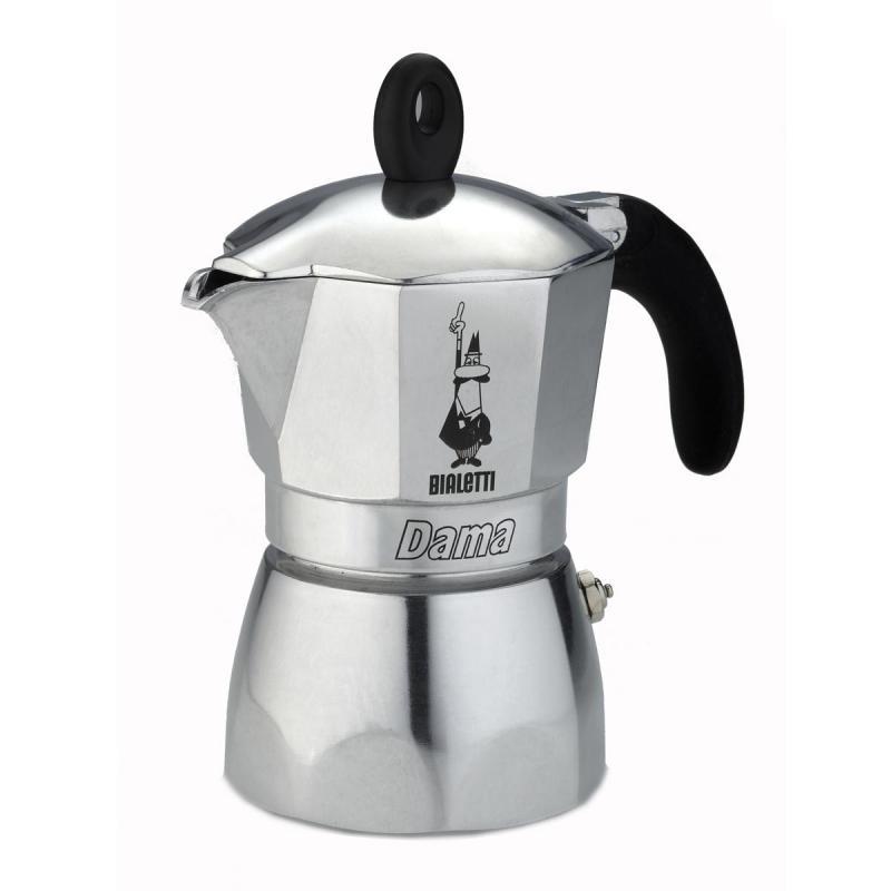 Кофеварка Bialetti Dama 6 п. 2153 AluminiumКофеварки и кофемашины<br><br><br>Тип : гейзерная кофеварка<br>Тип используемого кофе: Молотый<br>Объем, л: 0.24<br>Материал корпуса  : Металл