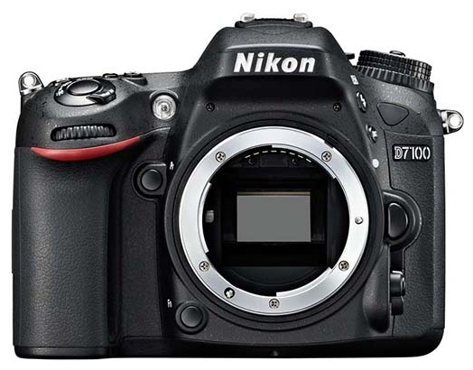 Зеркальный фотоаппарат Nikon D7100 BodyЦифровые зеркальные фотоаппараты<br>Nikon D7100 Body — на бескрайних просторах творчества.<br>Зеркальный фотоаппарат Nikon D7100 Body привлекает даже опытных фотографов. Причем, не только своей выгодной ценой. Его богатый функционал и широкие возможности позволяют создавать настоящие фото- и видеошедевры высокопрофессионального уровня.<br>CMOS-матрица с разрешением 24,1 Мп, отсутствие низкочастотного фильтра, мощный процессор EXPEED 3 для быстрой и качественной обработки изображений, 51-точечный автофокус, ISO 100-6400 с увеличением до 25600, возможность непрерывной съемки со скоростью до 6 кадров в секунду...<br><br>Тип: Цифровая зеркальная фотокамера<br>Стабилизатор изображения: нет<br>Носители информации: SD, SDHC, SDXC<br>Видеорежим: есть<br>Звук в видеоклипе: есть<br>Вспышка: есть<br>Кроп фактор: 1.5<br>Тип матрицы: CMOS<br>Размер матрицы: 23.5 x 15.6 мм<br>Число эффективных пикселов, Mp: 24.1 млн