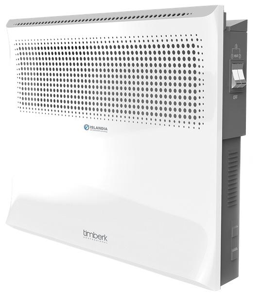Конвектор Timberk TEC.E3 M 1000Обогреватели<br>- Эксклюзивный авторский дизайн скандинавской студии дизайна Timberk: уникальная конструкция решетки, повышающая эффективность воздушно-теплового потока<br>- Высоконадежный механический термостат<br>- Технология Resistance control: устойчивость к перепадам напряжения в электросети &amp;#40;-20%/&amp;#43;15%&amp;#41;<br>- Технология Heating Energy Balance: новейшая система производства низкотемпературных нагревательных элементов - скорость разогрева до 75 секунд, забота об экологии воздуха<br>- Три ступени мощности нагрева<br>- Технология Power Proof: экономия электроэнергии<br>- Технология UltraSilence: абсолютно...<br><br>Тип: конвектор<br>Серия: Islandia<br>Площадь обогрева, кв.м: 13<br>Влагозащитный корпус: есть<br>Управление: механическое<br>Термостат: есть<br>Настенный монтаж: есть<br>Напольная установка: есть<br>Напряжение: 220/230 В<br>Габариты: 45.5x44x13 см