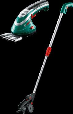 Кусторез Bosch ISIO 3 [0600833105]Кусторезы<br>Комплект поставки<br><br>зарядное устройство<br>Нож для травы Multi-Click 8 см &amp;#40;F 016 800 326&amp;#41;<br>Телескопическая штанга &amp;#40;F 016 800 329&amp;#41;<br><br>Ваш незаменимый помощник в саду: многофункциональный Isio оптимально подходит для регулярных работ на садовом участке.<br><br>Потребительские преимущества<br>- Широкий набор функций: новые насадки Multi-click делают Isio еще универсальнее.<br>- Компактный и легкий: оптимальные форма, размер и вес для комфортной работы в саду.<br>- Надежность и высокая мощность: благодаря литиево-ионному аккумулятору и антиблокировочной системе вы сможете работать без...<br><br>Тип: кусторез<br>Тип двигателя: Электрический<br>Источник питания: аккумулятор<br>Описание: напряжение аккумулятора 3,6 В. Ёмкость аккумулятора 1,5 А*ч. Время работы аккумулятора до 40 мин. Время зарядки аккумулятора 3,5 h. Ширина ножа 8 см