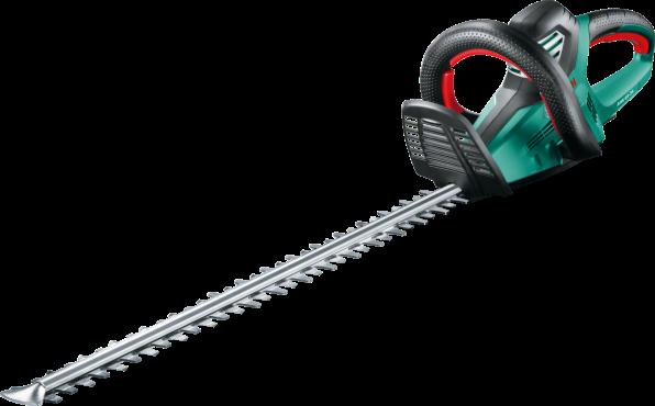 Кусторез Bosch AHS 65-34 [0600847J00]Кусторезы<br>Легкость и высокая мощность для сложных задач.<br><br>Потребительские преимущества<br>- Максимальное удобство использования: благодаря оптимальному распределению веса эта модель на 15 % легче предыдущей.<br>- Практичность: прозрачная защита рук, ручка-скоба с мягкой накладкой и несколько положений переключения гарантируют безопасную и комфортную работу.<br>- Максимальная производительность: двигатель мощностью 700 Вт и инновационный нож с функцией пиления и расстоянием между ножами 34 мм.<br><br>Тип: кусторез<br>Мощность двигателя, Вт: 700<br>Длина шины дюйм/см: 65<br>Расстояние между ножами: 34 мм<br>Описание: частота хода: 3400 об/мин.
