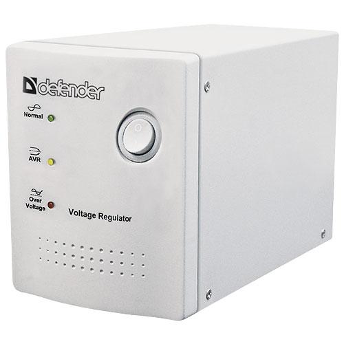 Стабилизатор напряжения Defender AVR REAL 1000Сетевые фильтры и стабилизаторы<br>Defender AVR REAL 600 / 1000 объединяет в себе два устройства: стабилизатор напряжения и сетевой фильтр. Предназначен для защиты электропитания компьютеров, периферии и другой электронной аппаратуры от длительного повышения или понижения напряжения в сети, импульсных помех, а также для защиты от высокого напряжения. Имеет функцию защиты компьютерной и телефонной сети.<br>Стабилизатор напряжения Defender AVR REAL 600 автоматически уменьшает повышенное и увеличивает пониженное напряжение до уровня, наиболее подходящего для вашего оборудования. В случае опасного...<br><br>Тип: стабилизатор напряжения<br>Максимальная выходная мощность, Вт: 250<br>Максимальная рассеиваемая энергия: 320 Дж