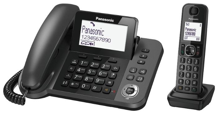 Радиотелефон Panasonic KX-TGF310RUMРадиотелефон Dect<br><br><br>Тип: Радиотелефон<br>Рабочая частота: 1880-1900 МГц<br>Время работы трубки (режим разг. / режим ожид.): 17 / 330 ч<br>Полифонические мелодии: да<br>Дисплей: на базовом блоке, на трубке (монохромный с подсветкой)<br>Подсветка кнопок на трубке: Есть<br>Возможность настенного крепления: Есть<br>Количество аккумуляторов: 2<br>Формат: AAA<br>Тип аккумулятора: Ni-MH
