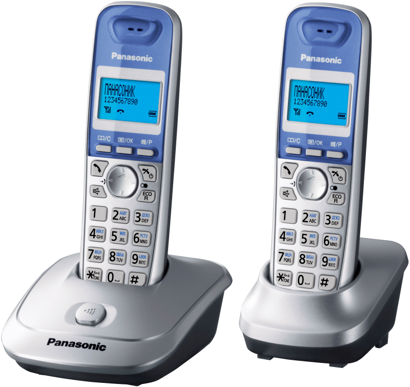 Радиотелефон Panasonic KX-TG2512RUSРадиотелефон Dect<br>Радиотелефон Panasonic KX-TG2512RUS — это отличная модель и для офисного, и для домашнего использования. Качество связи, как и всегда у компании Panasonic, на высоте. Плюс к тому, стильный серебряный цвет, приятный эргономичный дизайн и очень привлекательная цена, делают эту модель не просто популярной среди покупателей, а суперпопулярной! В комплектацию входят две трубки радиотелефона, одна из которых стоит прямо на базе. Установите телефон на своем рабочем столе и прикрепите его на стену с помощью специальных креплений и говорите столько, сколько хотит...<br><br>Тип: Радиотелефон<br>Количество трубок: 2<br>Рабочая частота: 1880-1900 МГц<br>Стандарт: DECT/GAP<br>Радиус действия в помещении / на открытой местност: 50 / 300<br>Время работы трубки (режим разг. / режим ожид.): 18/170<br>Полифонические мелодии: 10<br>Дисплей: Есть<br>Возможность настенного крепления: Есть<br>Журнал номеров: 50