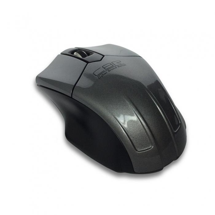 Компьютерная мышь CBR CM 677 Grey USBКомпьютерные мыши<br><br><br>Тип: оптическая светодиодная<br>Назначение: ноутбук<br>Тип беспроводной связи: радиоканал<br>Цвет: серый<br>Трекбол: нет<br>Колесо прокрутки: есть