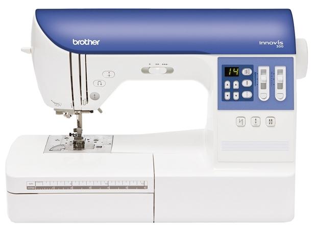 Швейная машина Brother INNOV-IS 300 (NV-300)Швейные машины<br><br><br>Тип: электронная<br>Тип челнока: ротационный горизонтальный<br>Количество швейных операций: 73<br>Выполнение петли: автомат<br>Число петель: 7<br>Максимальная длина стежка: 5.0 мм<br>Максимальная ширина стежка: 7.0 мм<br>Оверлочная строчка : есть<br>Потайная строчка : есть<br>Эластичная строчка : есть