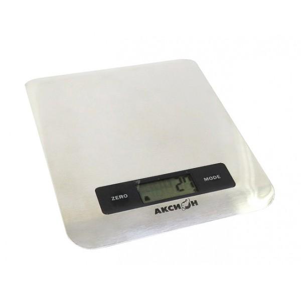 Кухонные весы Аксион ВКЕ 22Весы<br>- Наличие часов, таймера, термометра<br>- Жидкокристаллический дисплей<br>- Высокая точность измерения<br>- Измерение объема жидкости<br>- Автоматическое выключение<br>- Большая прозрачная чаша<br><br>Тип: кухонные весы<br>Тип весов: электронные<br>Предел взвешивания, кг: 5<br>Точность измерения, г: 100