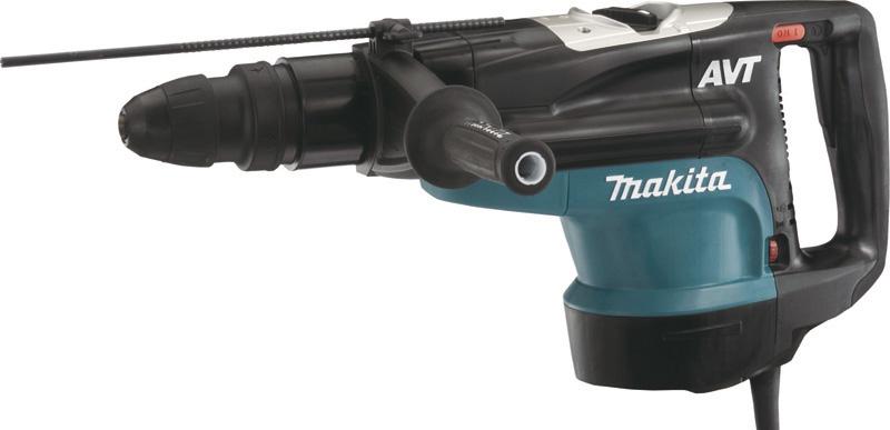 Перфоратор Makita HR5210CПерфораторы<br><br><br>Тип крепления бура: SDS-Max<br>Количество скоростей работы: 1<br>Потребляемая мощность: 1500 Вт<br>Макс. энергия удара: 19.7 Дж<br>Макс. диаметр сверления (полой коронкой): 160 мм<br>Питание: от сети<br>Возможности: предохранительная муфта, антивибрационная система, электронная регулировка частоты вращения, индикатор износа угольных щеток<br>Описание: Отсутствие удара на холостом ходу. Ползунковый выключатель для комфортной работы в режиме отбойного молотка