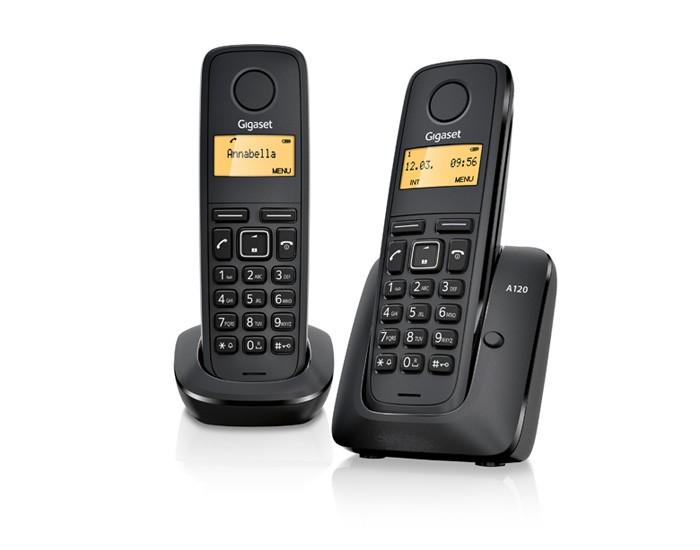 Радиотелефон Gigaset A120 DUOРадиотелефон Dect<br>Gigaset a120 duo: два лучше, чем один!<br>Два всегда лучше, чем один, ведь, правда? Особенно когда речь идет о качественной технике, такой, как радиотелефон Gigaset a120 duo. Легкий и очень удобный в управлении, качественный, функциональный и, к тому же, недорогой — такому телефону самое место у вас дома или в вашем рабочем офисе!<br>Вы можете прямо сейчас посмотреть многочисленные отзывы об этой модели на разных сайтах, посвященных радиотехнике, и убедиться, что этот телефон — великолепный выбор по всем параметрам! В этом телефоне есть все, что может вам понадобиться:...<br>