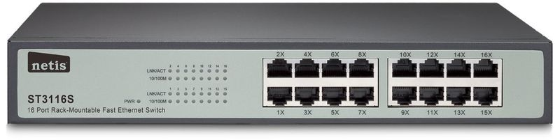 Коммутатор Netis ST3116SМаршрутизаторы и роутеры<br><br>
