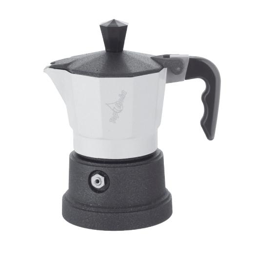 Кофеварка Top Moka Caffettiera Top 6 п. teflon WhiteКофеварки и кофемашины<br><br><br>Тип : гейзерная кофеварка<br>Объем, л: 0,24<br>Материал корпуса  : Металл