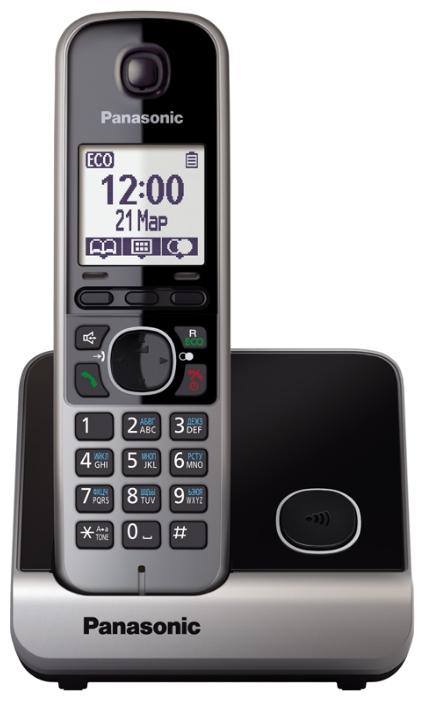 Радиотелефон Panasonic KX-TG6711RUBРадиотелефон Dect<br><br><br>Тип: Радиотелефон<br>Количество трубок: 1<br>Рабочая частота: 1880-1900 МГц<br>Стандарт: DECT/GAP<br>Радиус действия в помещении / на открытой местност: 50/300 м<br>Время работы трубки (режим разг. / режим ожид.): 15 / 170 ч<br>Полифонические мелодии: 40<br>Дисплей: на трубке (монохромный с подсветкой), 2 строки<br>Подсветка кнопок на трубке: Есть<br>Возможность настенного крепления: Есть